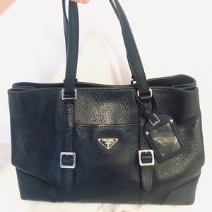Authentic Prada Black Leather Bag